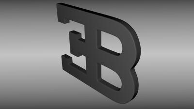 3D Bugatti Logo Wallpaper 59074