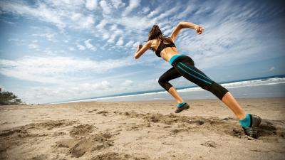 Beach Girl Running Wallpaper 60124