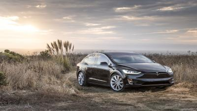 Black Tesla Model X Wallpaper Background 62155