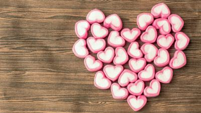 Candy Hearts Desktop Wallpaper HD 61763