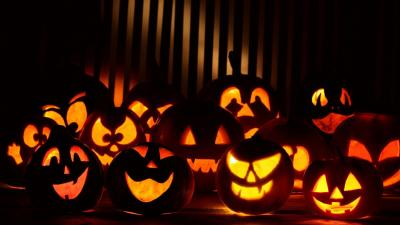 Carved Pumpkins Wallpaper Background 61980