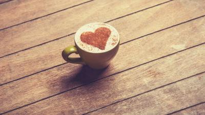 Coffee Heart Desktop Wallpaper 61870
