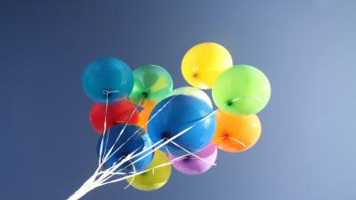 Colorful Balloons Widescreen Wallpaper 59168