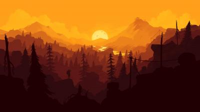Firewatch Landscape Wide Wallpaper 59166