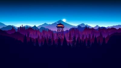 Firewatch Night Widescreen Wallpaper 59155