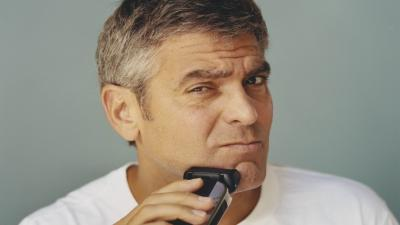 George Clooney Shaving Wallpaper 59478