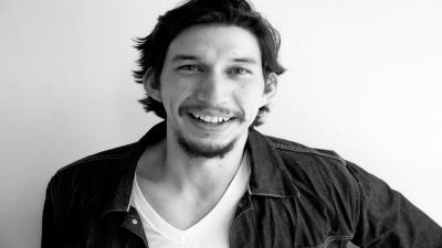 Monochrome Adam Driver Smile Wallpaper 59104