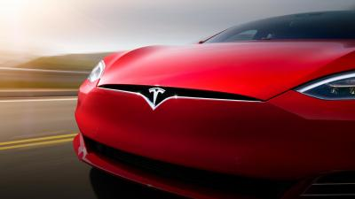 Tesla Car Up Close Wallpaper Background 62153