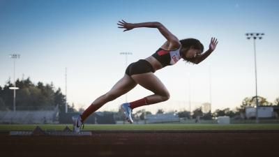 Track Girl Runner Wide Wallpaper HD 60126
