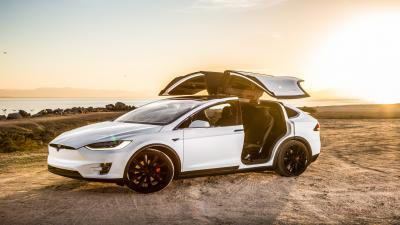 White Tesla Model X HD Wallpaper Photos 62159