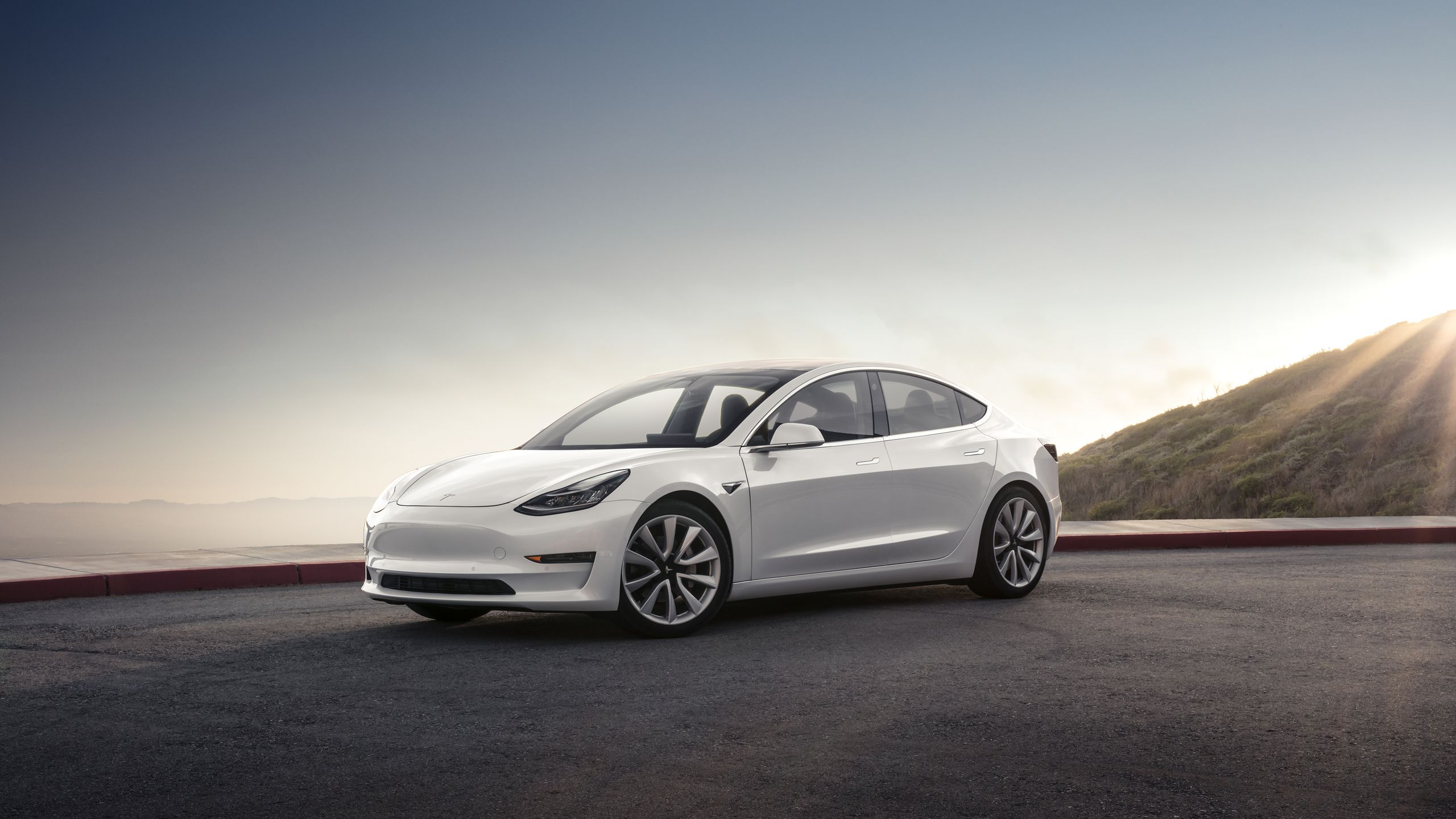 white tesla model 3 wallpaper background 62152