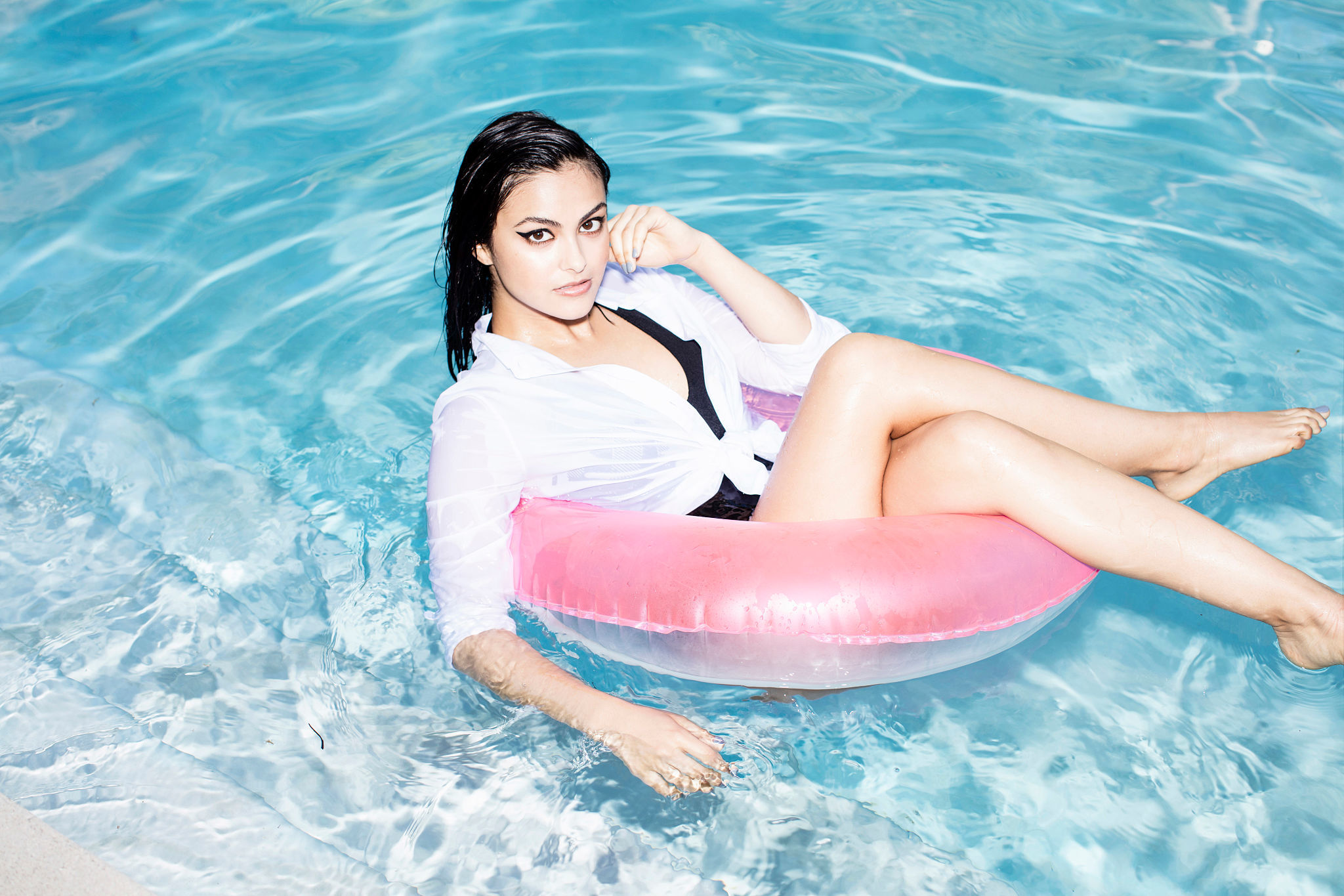 camila mendes pool wallpaper 61281