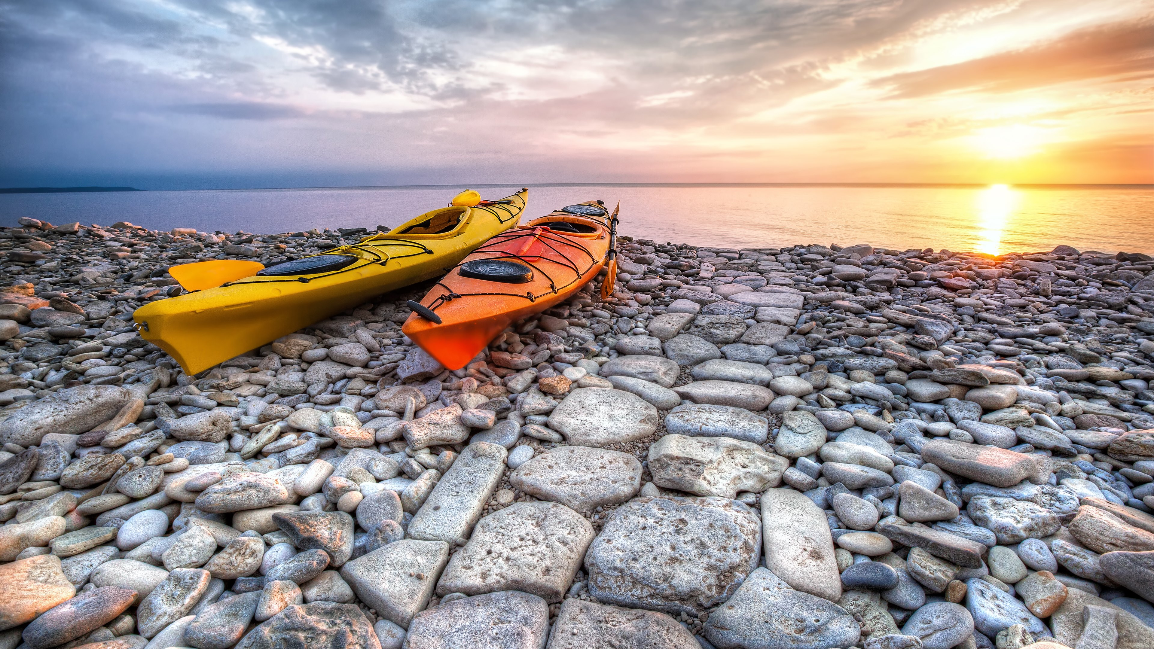 kayaks widescreen hd wallpaper 61465
