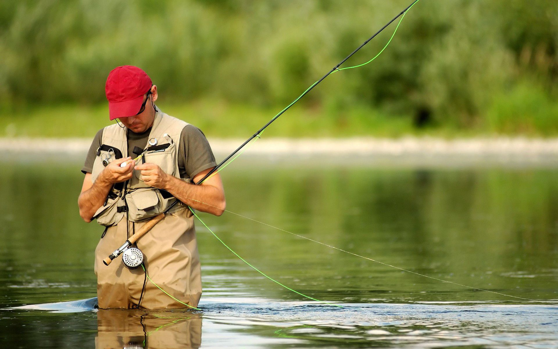 man fishing desktop wallpaper 60370