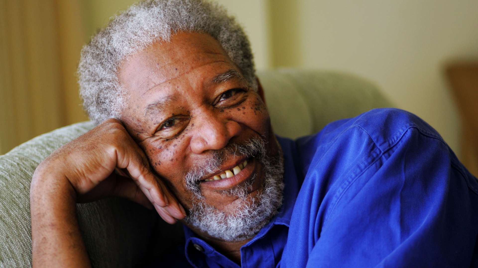 morgan freeman smile wallpaper 59379