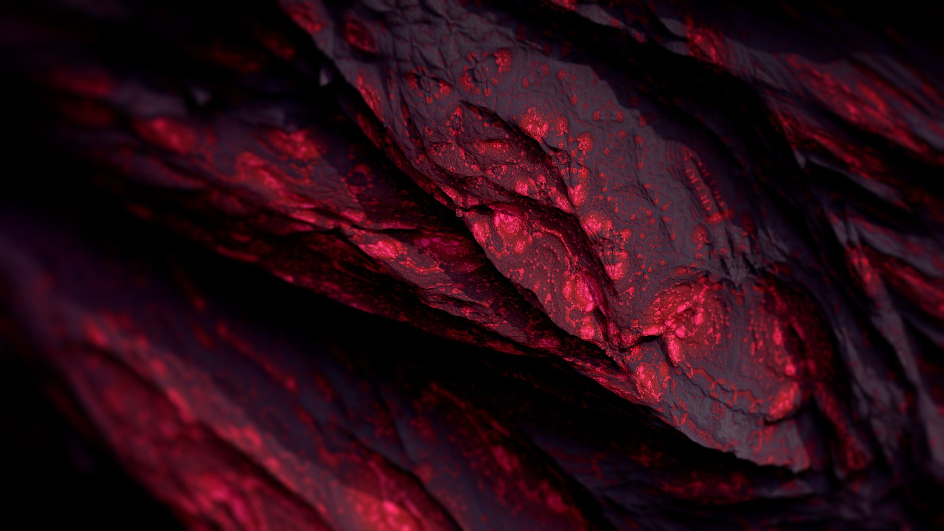 red 3d mineral wallpaper 60559