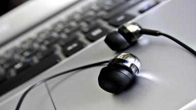 Black Earbuds Headset Wallpaper Background 62219