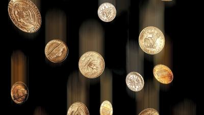 Falling Coins Wallpaper 60530