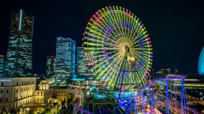 Ferris Wheel City Wide Wallpaper Background 61953
