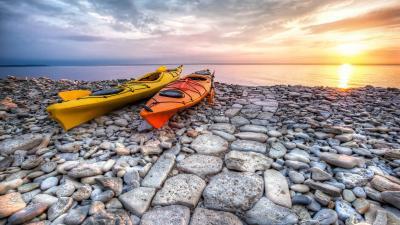 Kayaks Widescreen HD Wallpaper 61465