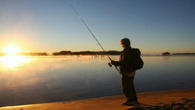Man Fishing Wallpaper Background 60367