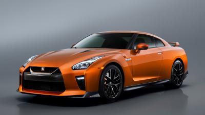 Orange Nissan GTR Wallpaper Background 61853