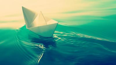 Paper Boat Wallpaper 61301