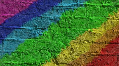Rainbow Wall Texture Desktop Wallpaper 62409