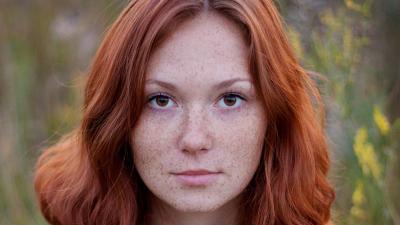 Redhead Freckles Desktop Wallpaper 60347