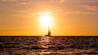 Sailboat Sunset Widescreen HD Wallpaper 59957