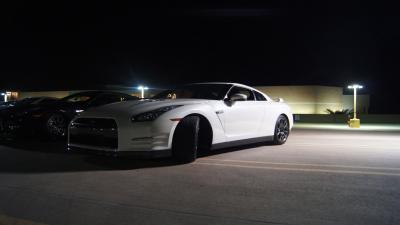 White Nissan GTR Parking Garage Wallpaper 61815