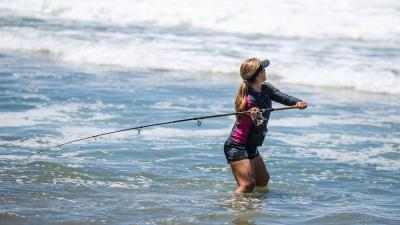 Woman Fishing Wide Wallpaper 60369