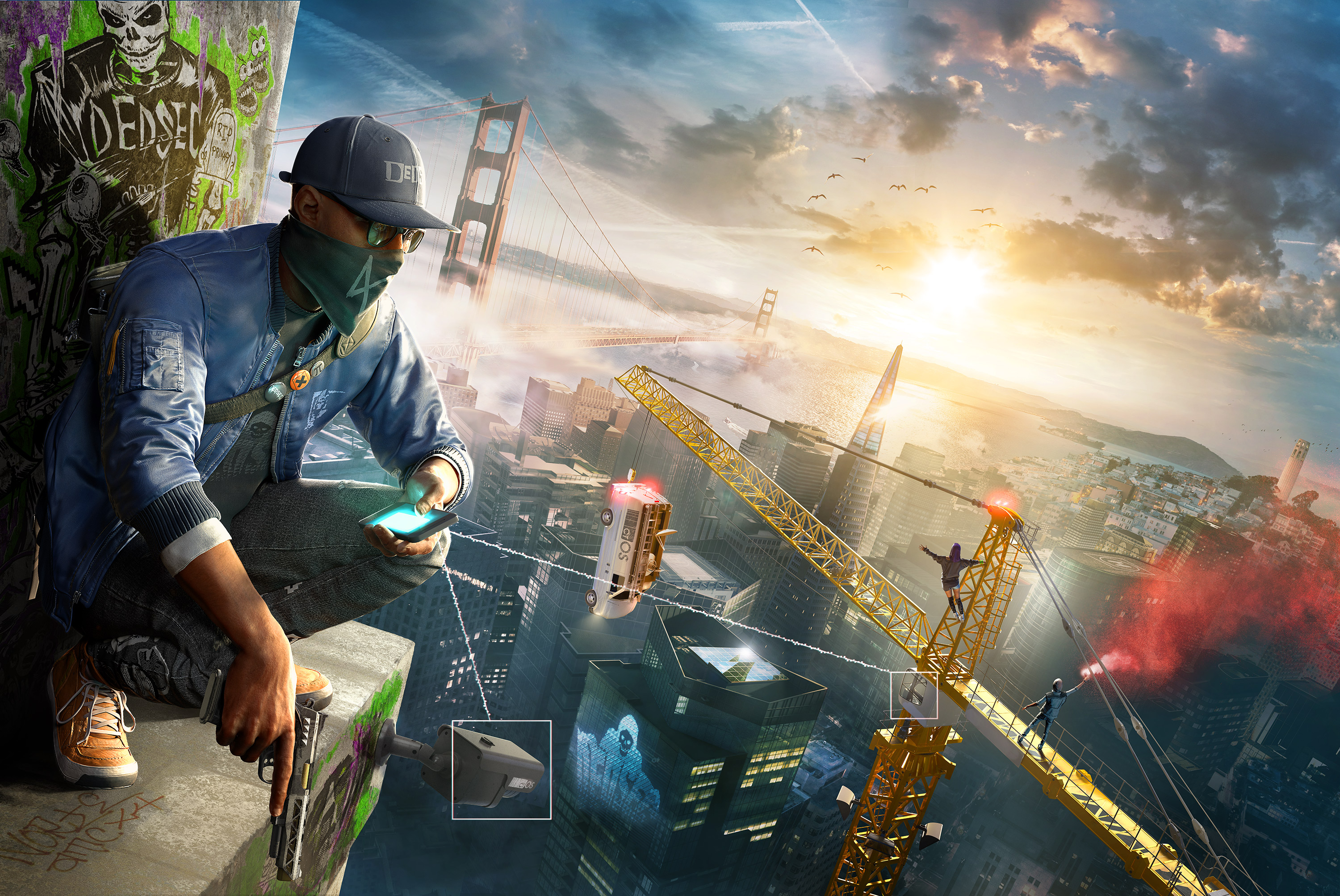 watch dogs 2 video game wide wallpaper 62001