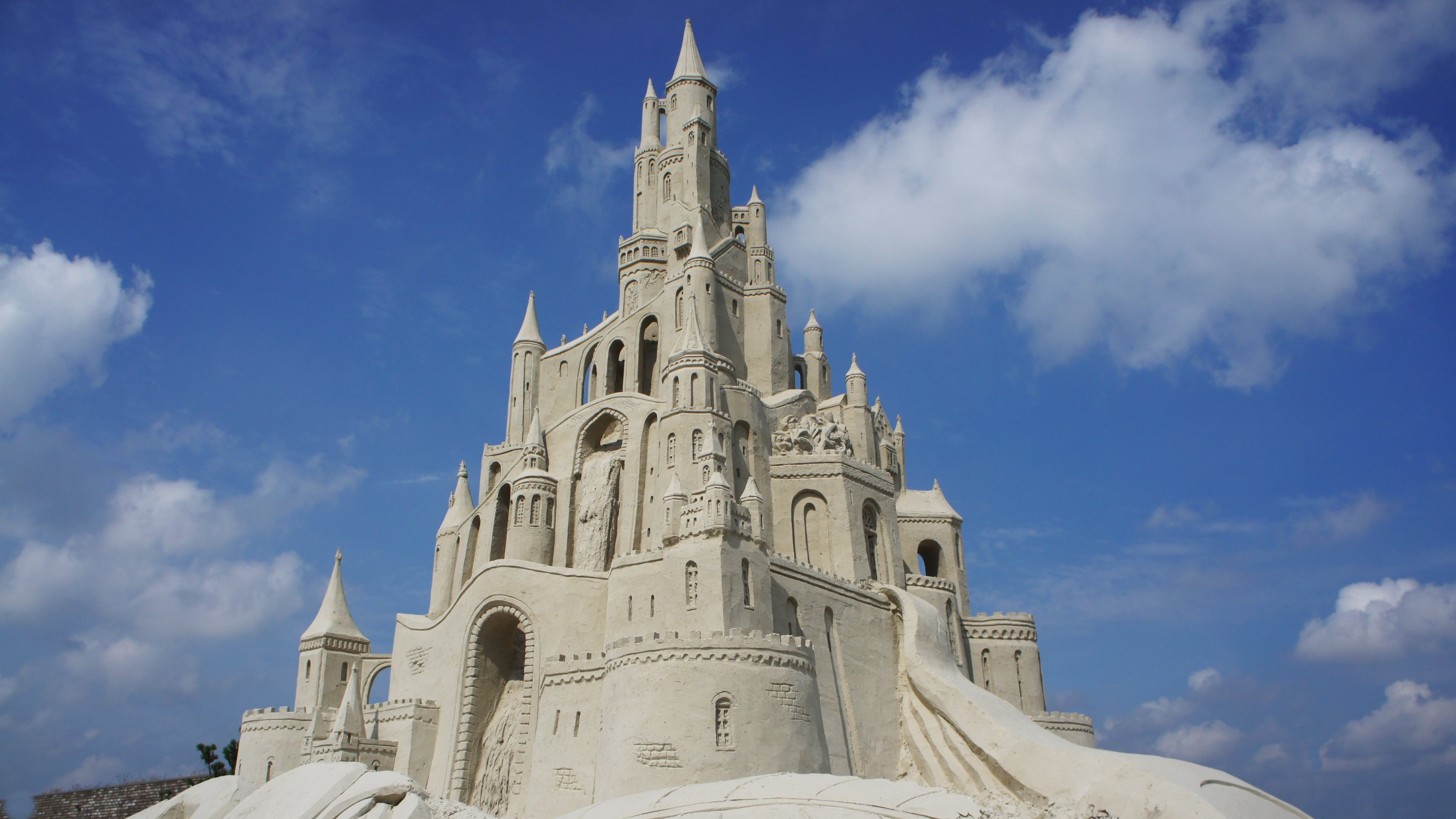 amazing sand castle widescreen wallpaper 61994