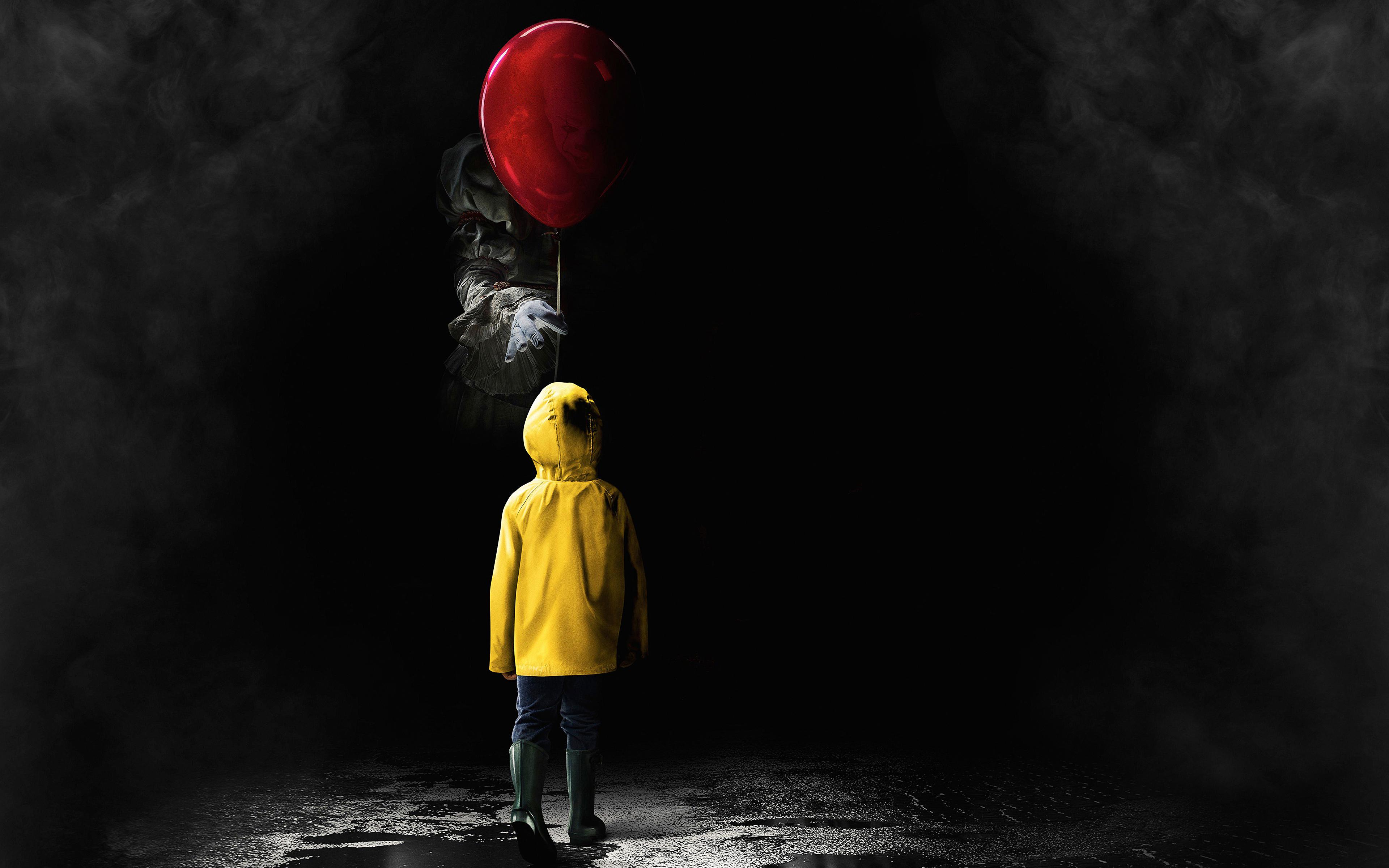 it 2017 horror movie widescreen wallpaper 62338