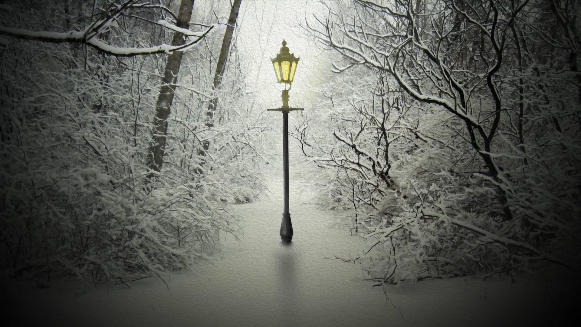 narnia lamp post wallpaper 59587