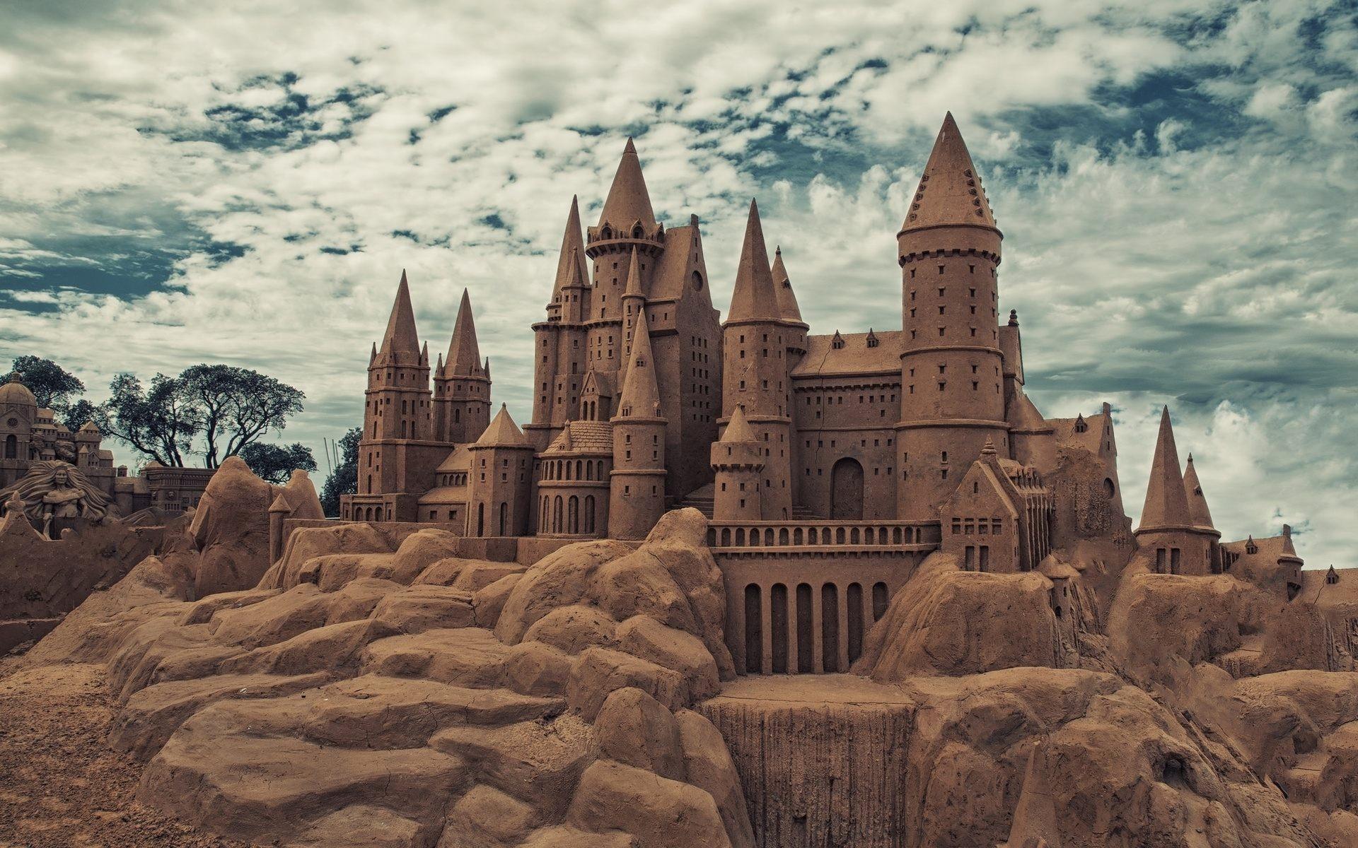sand castle desktop hd wallpaper 61998