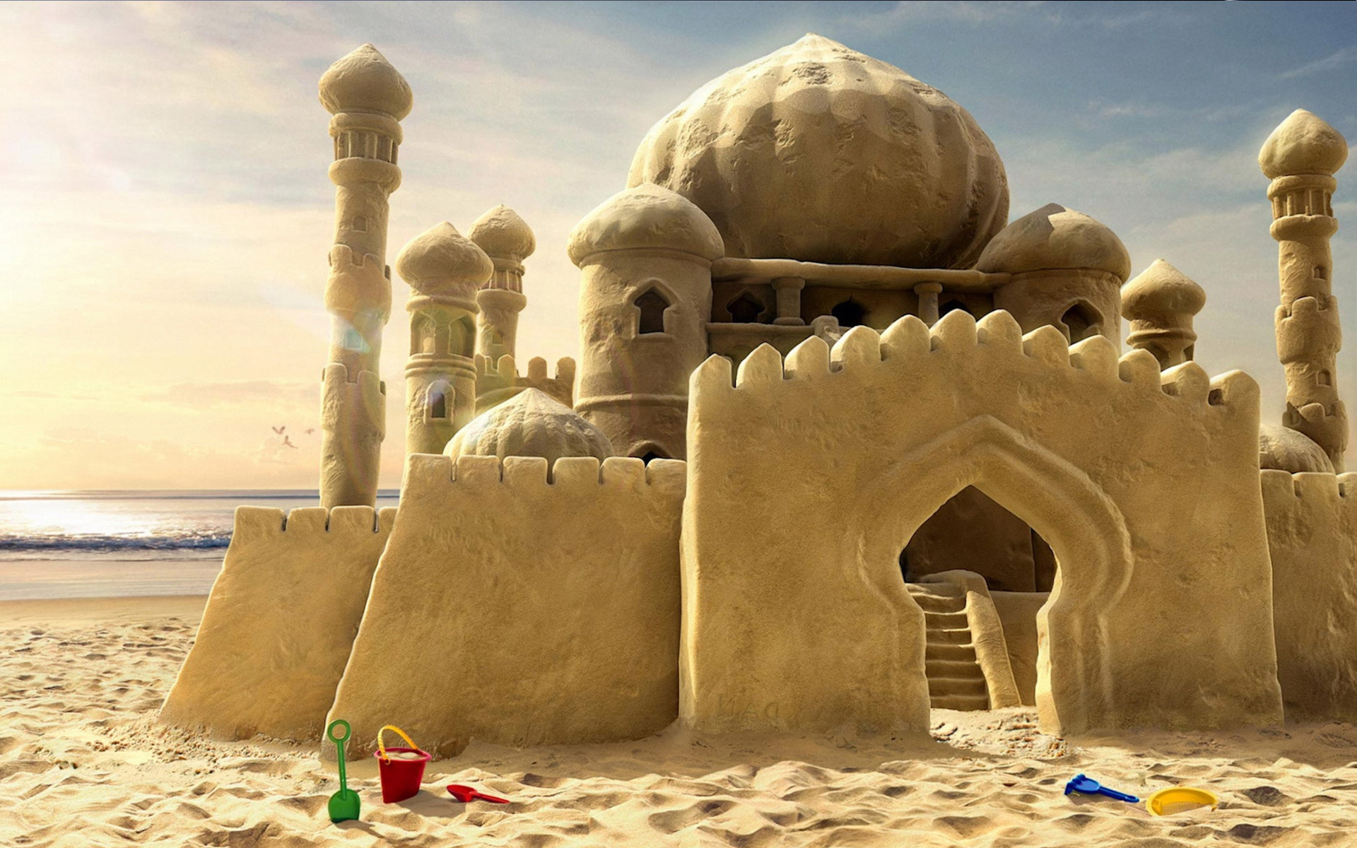 sand castle wallpaper 61995