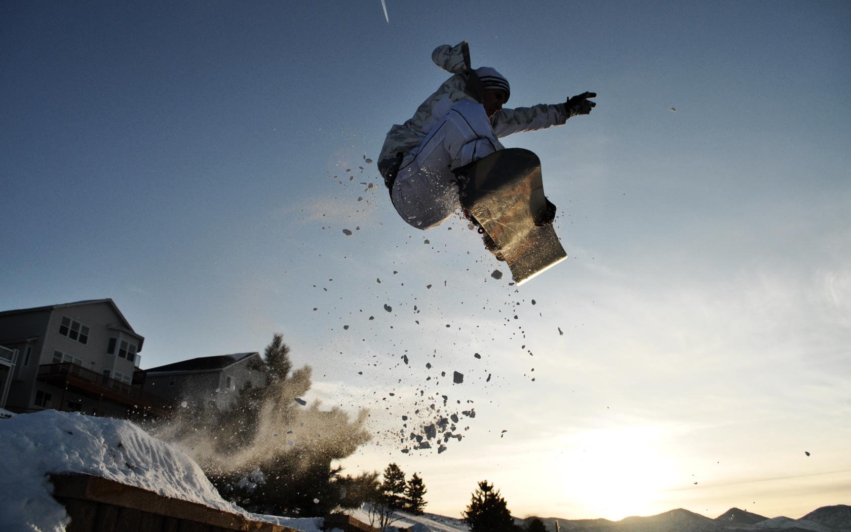 snowboarding jump computer wallpaper 61342