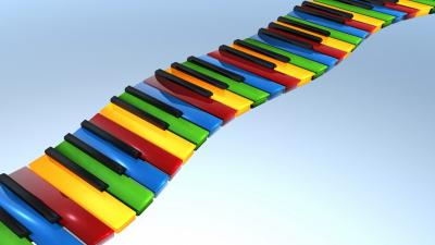 3D Colorful Keyboard Background 60185