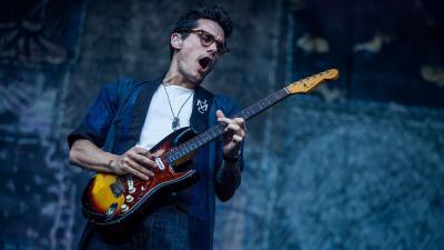John Mayer Performing Wide Wallpaper 59571