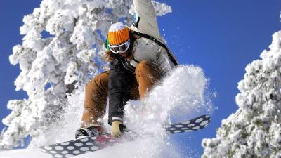 Snowboarding Widescreen HD Wallpaper 61343