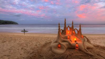 Stunning Sand Castle Desktop Wallpaper 61993