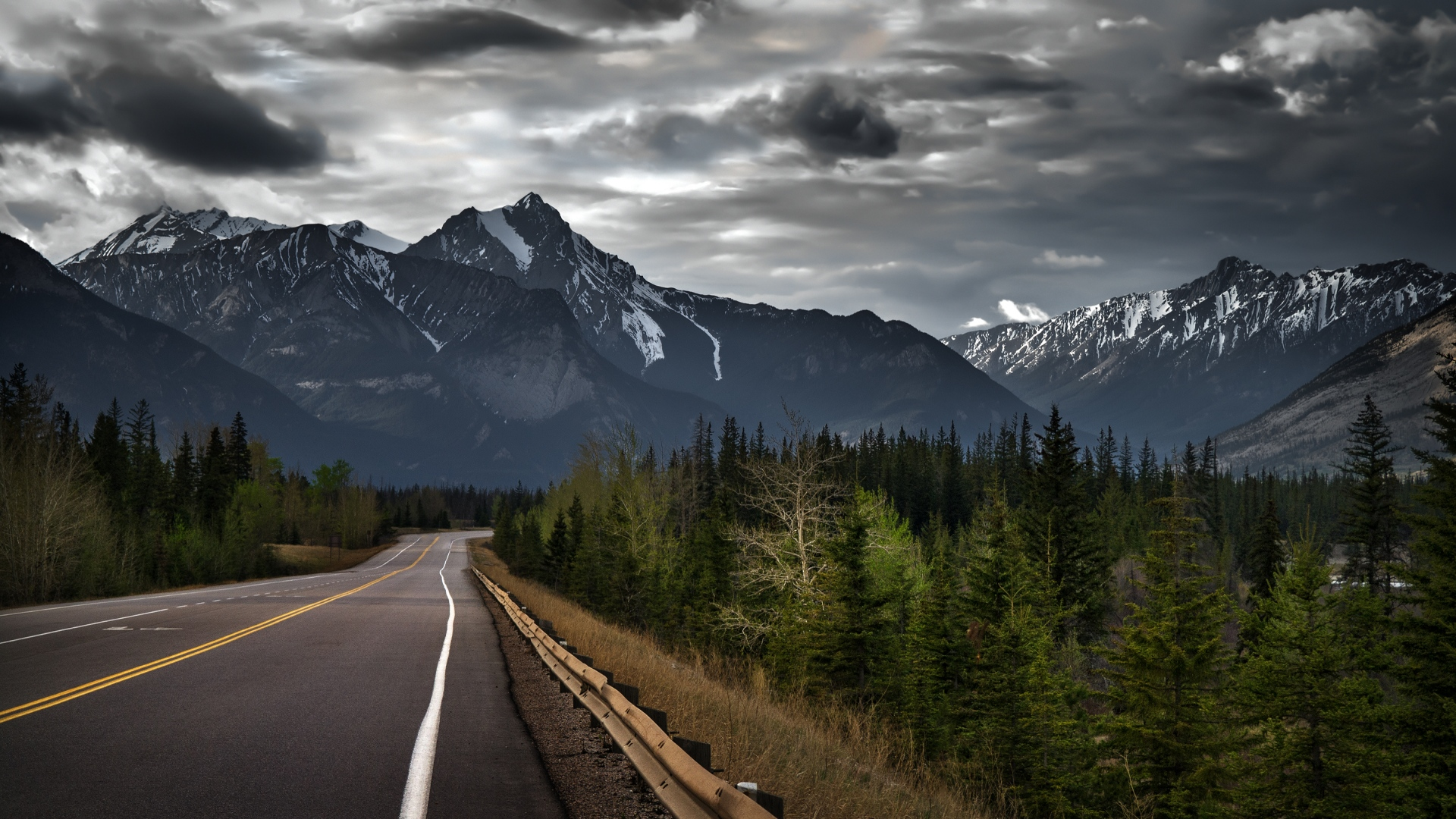 Canada mountain road wallpaper 61832 1920x1080 px for Wallpaper canada
