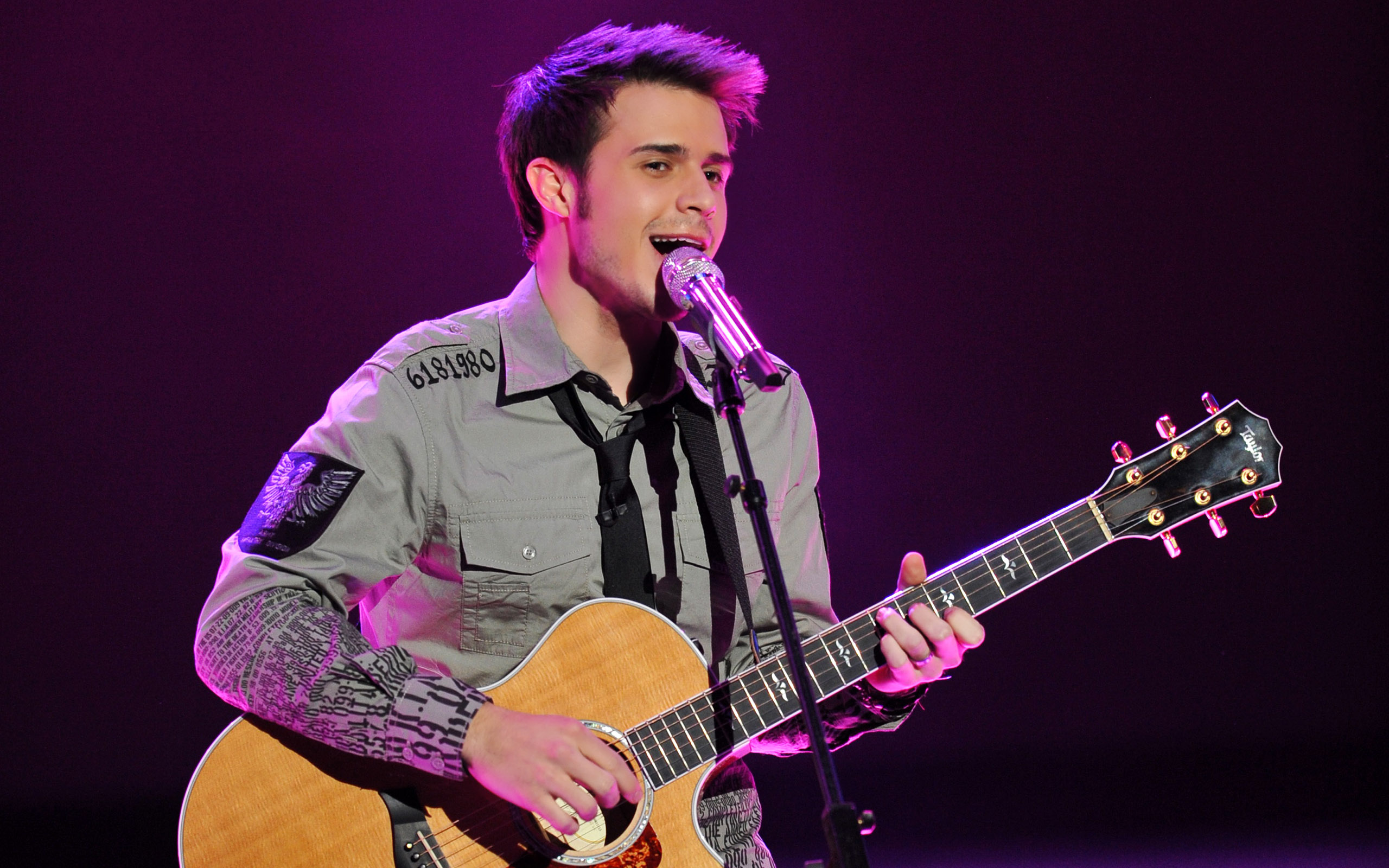 kris allen performing wallpaper background 59747