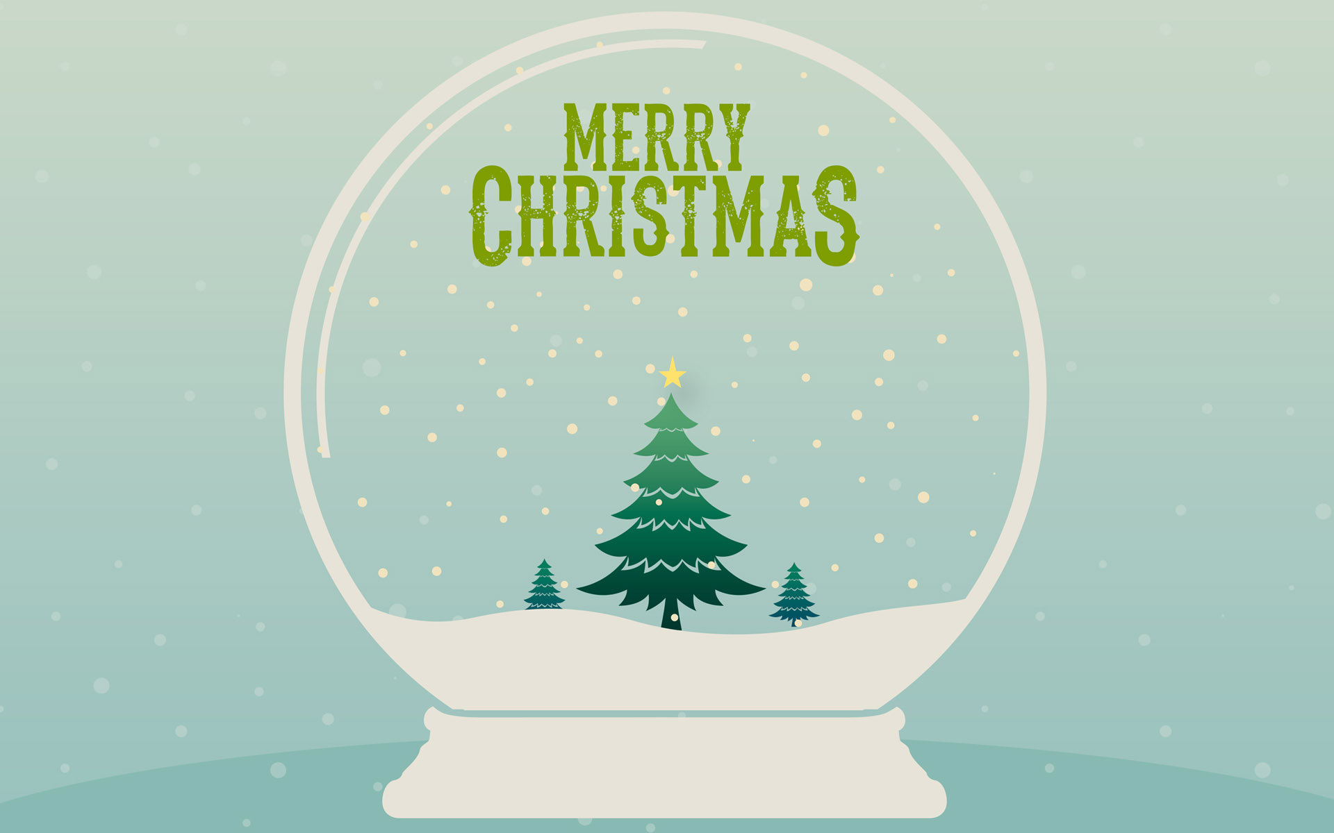 merry christmas snow globe wallpaper 62417