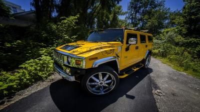 Yellow Hummer Wallpaper Background 59743