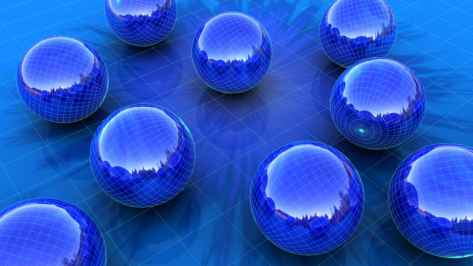 blue 3d spheres desktop wallpaper 61844