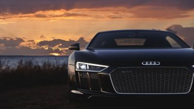 Black Audi R8 Wallpaper Background 61314