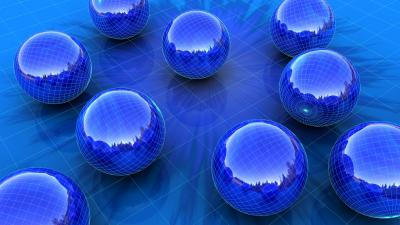 Blue 3D Spheres Desktop Wallpaper 61844